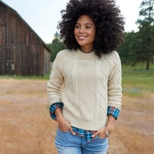 LL BEAN Signature Cotton Fisherman Sweater XS